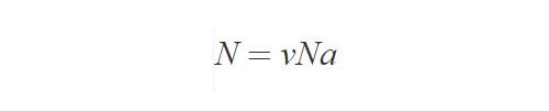 Формула расчета числа молекул