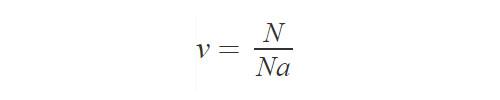 Количество частиц в массе вещества
