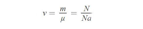 Формула, определяющая количество вещества