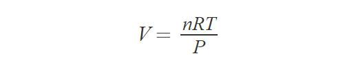 Формула объема газа