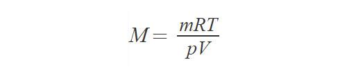 Формула молярной массы газа