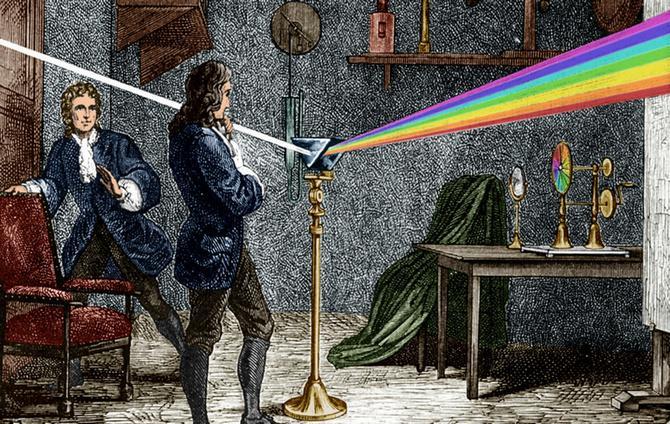 Эксперимент Ньютона с светом и цветом