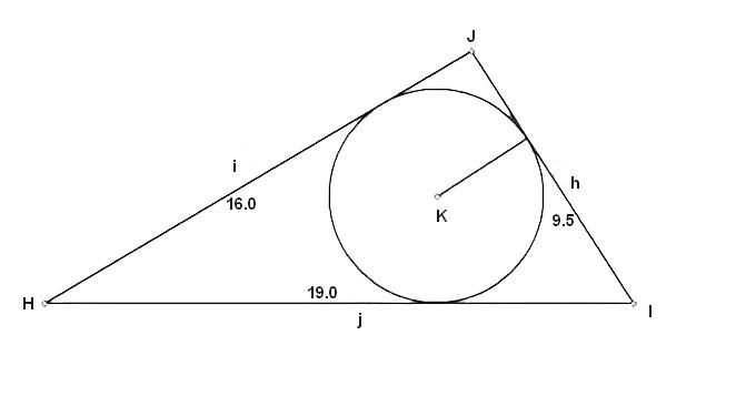 Свойства треугольника вписанного в окружность