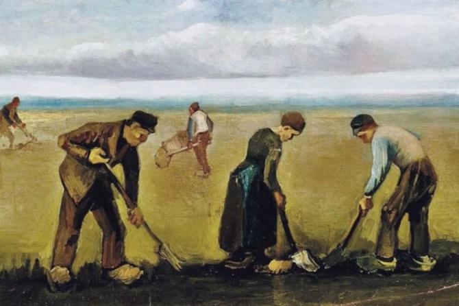 Крестьяне в поле
