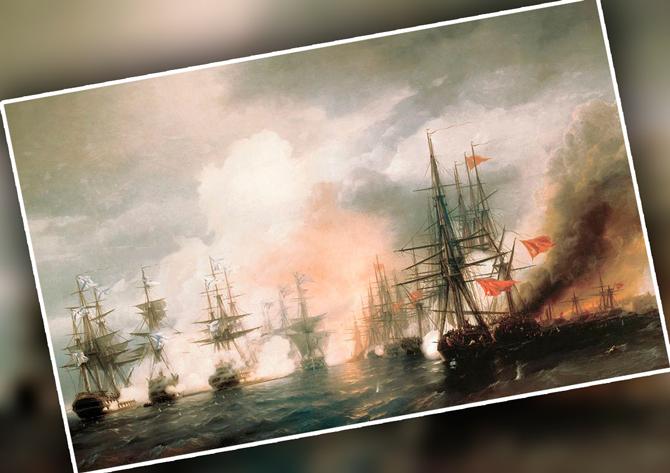 Крымская война бой в море