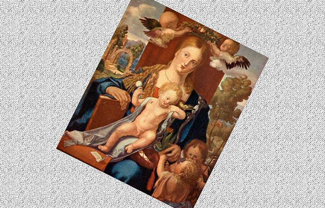 Картина «Мадонна с чижиком»