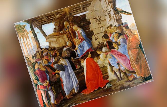 «Поклонение волхвов» Сандро Боттичелли