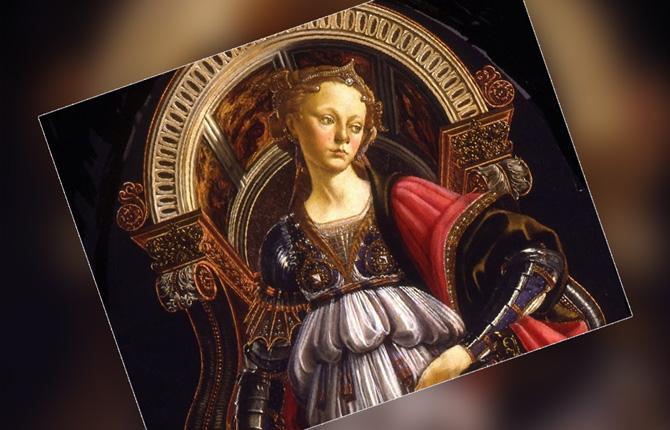 Фрагмент картины Сандро Боттичелли «Аллегория силы»