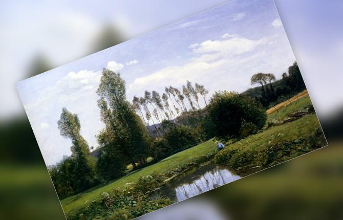 «Вид на Рюэль-ле-Гавр» 1858 г.