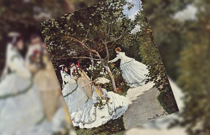 Клод Моне «Женщины в саду»