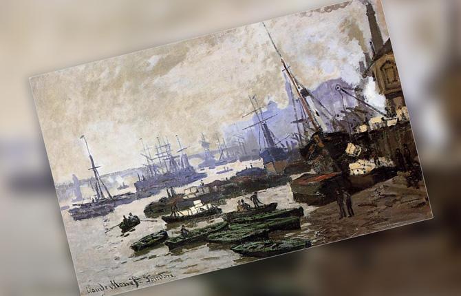 «Лодки в Лондонском Пуле» 1871 г.