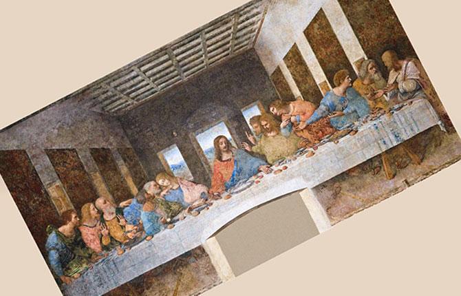 Фреска Леонардо да Винчи