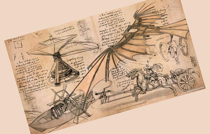 Изобретения и открытия Леонардо да Винчи