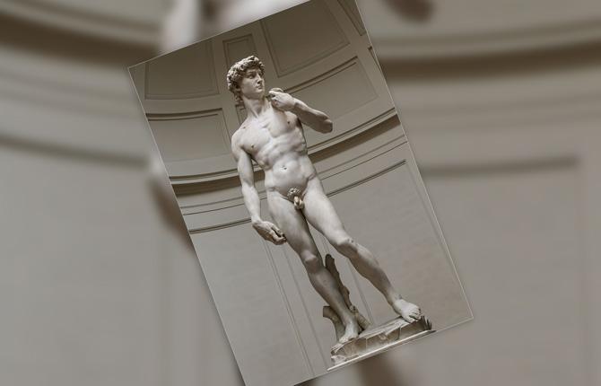Статуя Давид Микеланджело Буонарроти