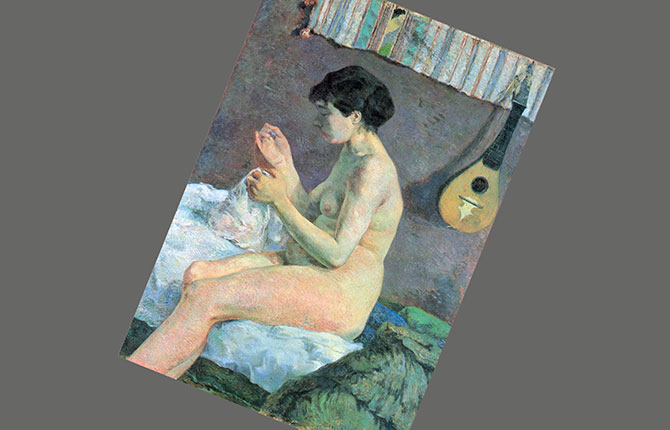 Гоген Этюд обнаженной натуры («Шитье Сюзанны»). 1880 г.