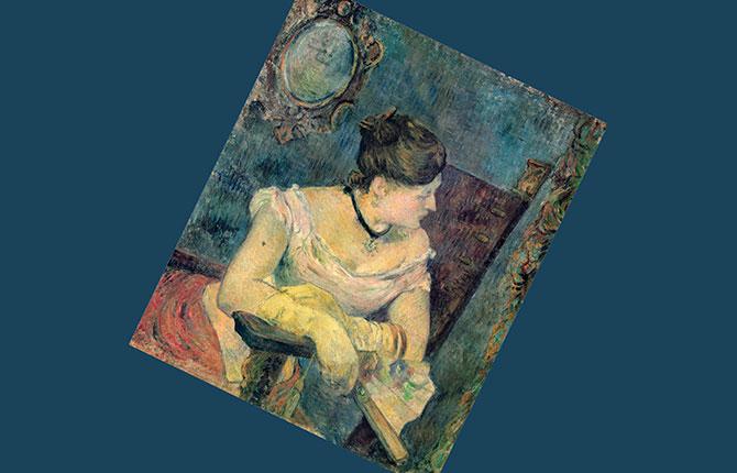 «Метте Гоген в вечернем платье» 1884 г.