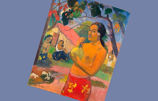 Гоген «Женщина, держащая плод» 1893 г.