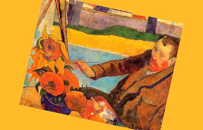 Портрет Винсента ван Гога, рисующего подсолнухи. 1888 г.
