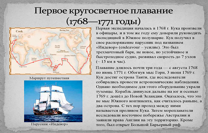 Первая научная экспедиция Джеймса Кука