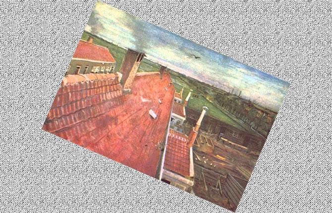 Картина Крыши. Вид из мастерской Ван Гога