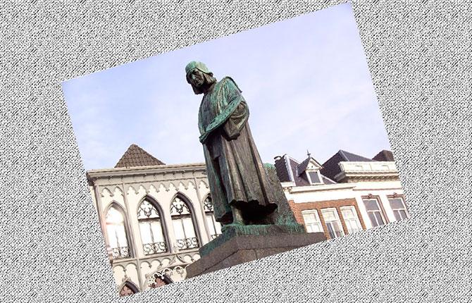 Памятник Иеронима Босха в его родном Хертогенбосе