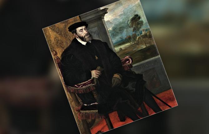 Портрет Карла V написанный Тицианом