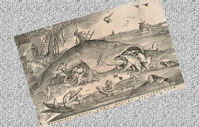 «Большие рыбы поедают малых», 1556 г