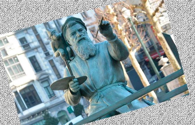 Памятник Питеру Брейгелю Старшему в Брюсселе