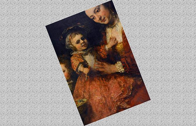 Фрагмент картины Семейный портрет Рембрандта
