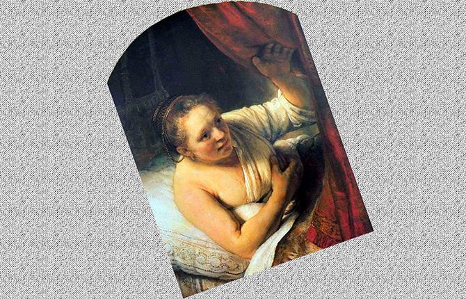 Рембрандт Молодая женщина в постели