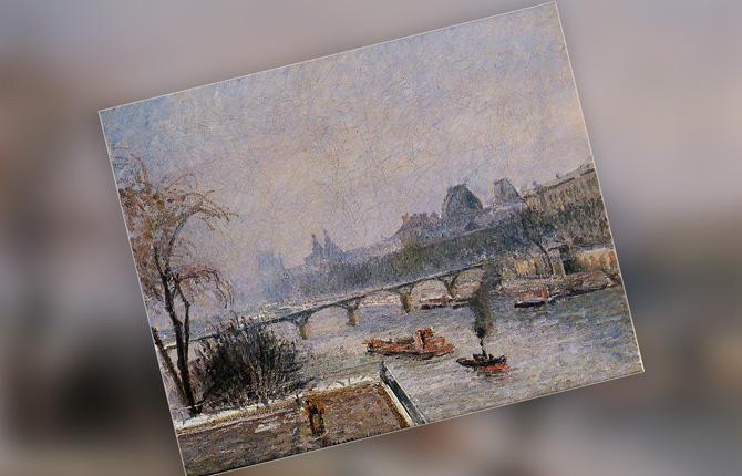 «Лувр утренний снег» 1903 г.