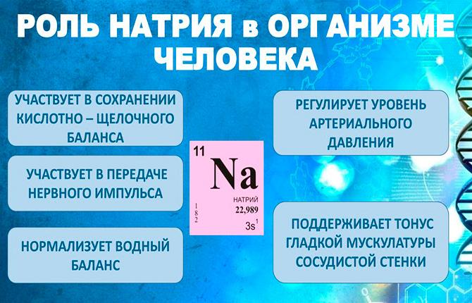 Роль натрия в организме человека